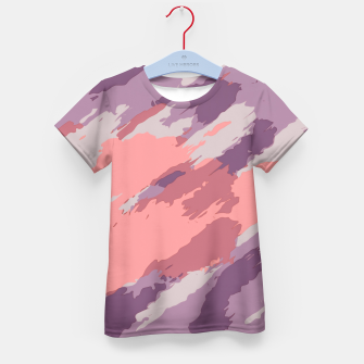 Thumbnail image of camouflage graffiti painting texture abstract  in purple and pink Kid's T-shirt, Live Heroes