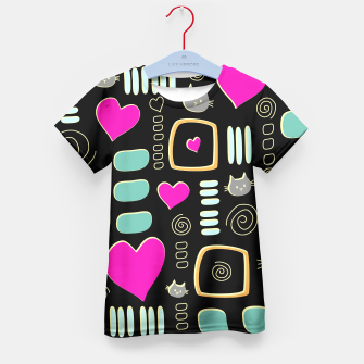 Thumbnail image of Love Cats Kid's T-shirt, Live Heroes