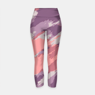 Thumbnail image of camouflage graffiti painting texture abstract  in purple and pink Yoga Pants, Live Heroes