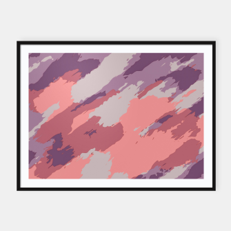 Thumbnail image of camouflage graffiti painting texture abstract  in purple and pink Framed poster, Live Heroes