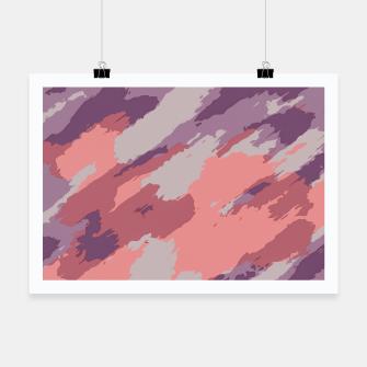 Miniatur camouflage graffiti painting texture abstract  in purple and pink Poster, Live Heroes