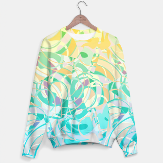 Summer Beach Days Abstract - Yellows And Blues Sweater thumbnail image