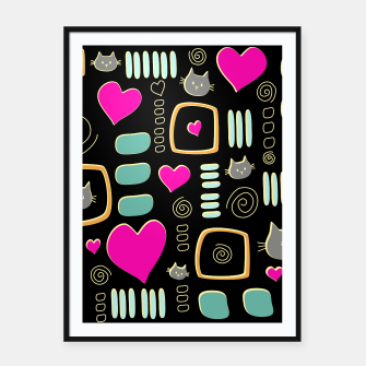 Thumbnail image of Love Cats Framed poster, Live Heroes