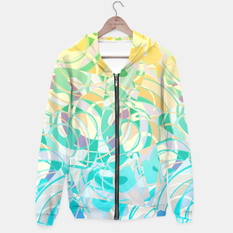 Miniatur Summer Beach Days Abstract - Yellows And Blues Hoodie, Live Heroes