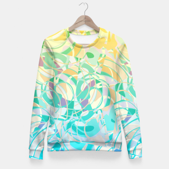 Summer Beach Days Abstract - Yellows And Blues Fitted Waist Sweater thumbnail image