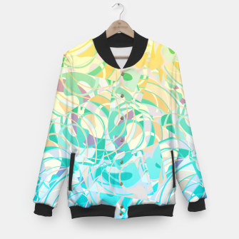 Miniatur Summer Beach Days Abstract - Yellows And Blues Baseball Jacket, Live Heroes