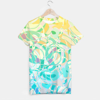 Summer Beach Days Abstract - Yellows And Blues T-shirt thumbnail image