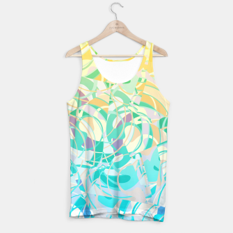 Summer Beach Days Abstract - Yellows And Blues Tank Top thumbnail image