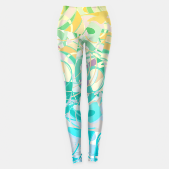 Summer Beach Days Abstract - Yellows And Blues Leggings thumbnail image