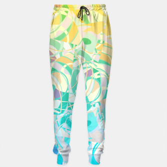 Summer Beach Days Abstract - Yellows And Blues Sweatpants thumbnail image