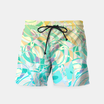 Summer Beach Days Abstract - Yellows And Blues Swim Shorts thumbnail image