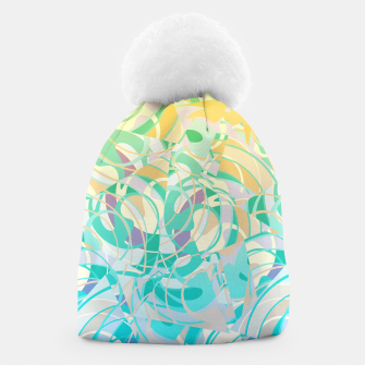 Summer Beach Days Abstract - Yellows And Blues Beanie thumbnail image