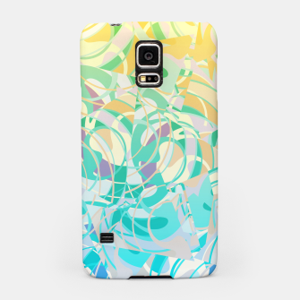 Summer Beach Days Abstract - Yellows And Blues Samsung Case thumbnail image