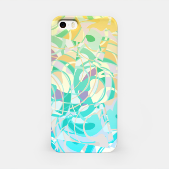 Summer Beach Days Abstract - Yellows And Blues iPhone Case thumbnail image