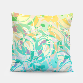 Summer Beach Days Abstract - Yellows And Blues Pillow thumbnail image