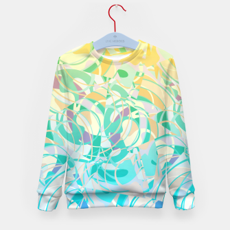 Summer Beach Days Abstract - Yellows And Blues Kid's Sweater thumbnail image