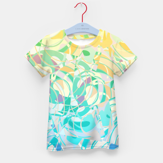 Summer Beach Days Abstract - Yellows And Blues Kid's T-shirt thumbnail image