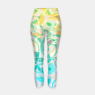Thumbnail image of Summer Beach Days Abstract - Yellows And Blues Yoga Pants, Live Heroes