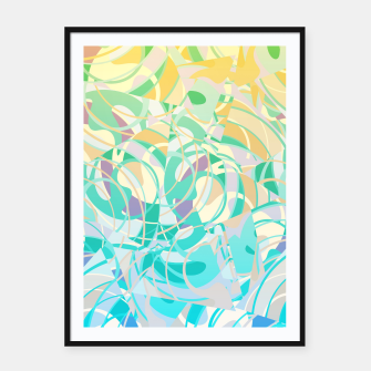 Summer Beach Days Abstract - Yellows And Blues Framed poster thumbnail image