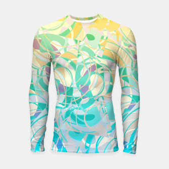Summer Beach Days Abstract - Yellows And Blues Longsleeve Rashguard  thumbnail image