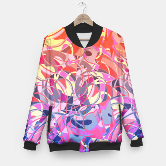 Miniatur Summer Sunset Abstract - Purples and Reds Baseball Jacket, Live Heroes