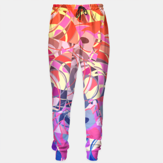 Miniatur Summer Sunset Abstract - Purples and Reds Sweatpants, Live Heroes
