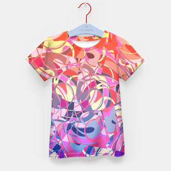 Thumbnail image of Summer Sunset Abstract - Purples and Reds Kid's T-shirt, Live Heroes