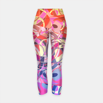 Thumbnail image of Summer Sunset Abstract - Purples and Reds Yoga Pants, Live Heroes