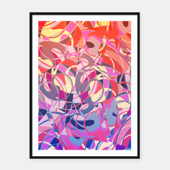 Thumbnail image of Summer Sunset Abstract - Purples and Reds Framed poster, Live Heroes