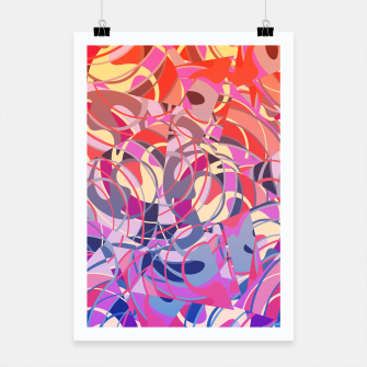 Miniatur Summer Sunset Abstract - Purples and Reds Poster, Live Heroes