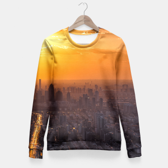 Thumbnail image of Tianjin City at Sunset Fitted Waist Sweater, Live Heroes
