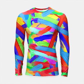 Colorful Finger Painting Longsleeve Rashguard  thumbnail image