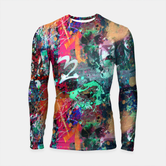 Thumbnail image of Graffiti and Paint Splatter  Longsleeve Rashguard , Live Heroes