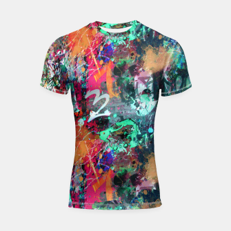 Graffiti and Paint Splatter  Shortsleeve Rashguard thumbnail image