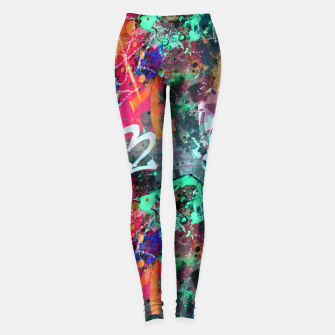 Graffiti and Paint Splatter  Leggings thumbnail image