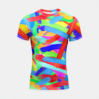 Colorful Finger Painting Shortsleeve Rashguard thumbnail image
