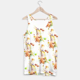 Miniatur Floral Abstract - Fall  Tank Top, Live Heroes