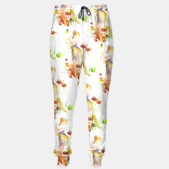 Miniatur Floral Abstract - Fall  Sweatpants, Live Heroes