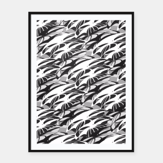 Alien Troops - Black & White Framed poster thumbnail image
