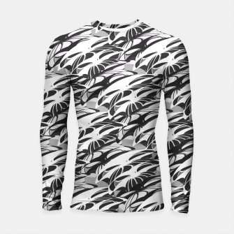 Alien Troops - Black & White Longsleeve Rashguard  thumbnail image