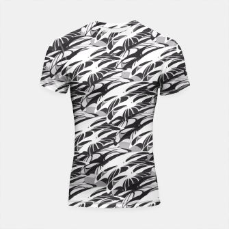 Alien Troops - Black & White Shortsleeve Rashguard thumbnail image