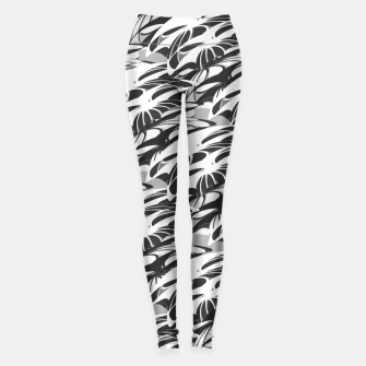 Alien Troops - Black & White Leggings thumbnail image