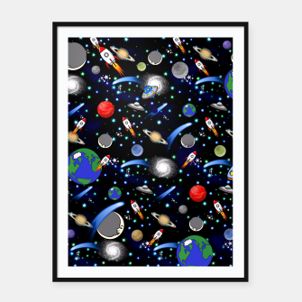 Thumbnail image of Galaxy Universe Framed poster, Live Heroes
