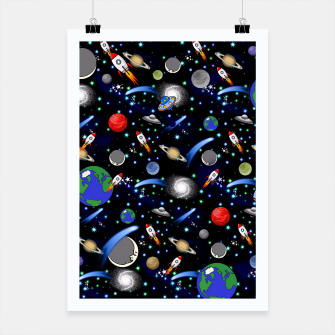 Miniatur Galaxy Universe Poster, Live Heroes