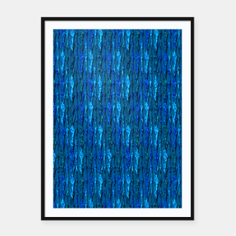 Thumbnail image of Scales of Blue Abstract Framed poster, Live Heroes