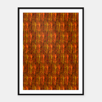 Scales of Fall Colors Abstract Framed poster thumbnail image