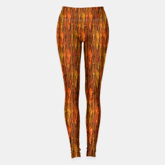 Scales of Fall Colors Abstract Leggings thumbnail image