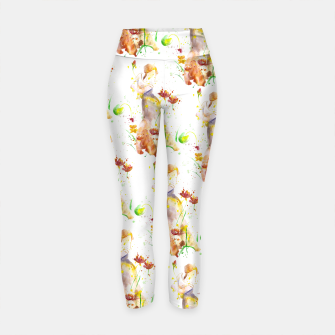 Thumbnail image of Floral Abstract - Fall  Yoga Pants, Live Heroes