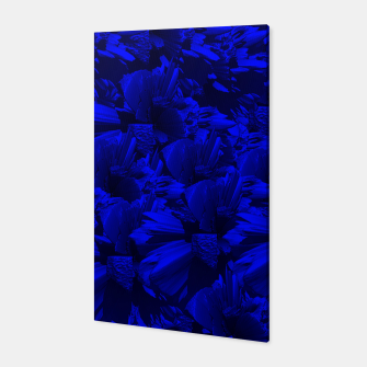 A202 Rich Blue and Black Abstract Design Canvas thumbnail image