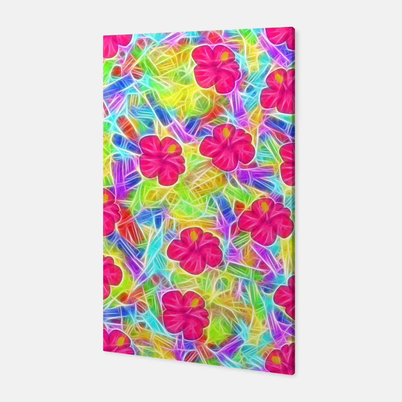 Image of Hawaiian Pink Flowers Canvas - Live Heroes
